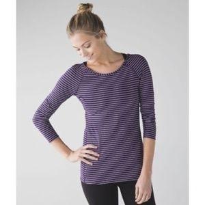 Lululemon Physically Fit Purple 3/4 Sleeve Tee